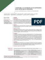 Estudio de La Función Ventricular y Su Correlación Con La Morfometría