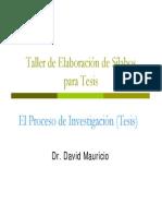 El Proceso de Investigacion Tesis FIPA 2013 ALTERNO