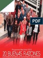 Programa Electoral_PSPV-PSOE Benetússer 20 Buenas Razones