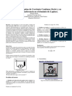 Analisis yFunción de Transferencia Máquina de Corriente Continua Serie