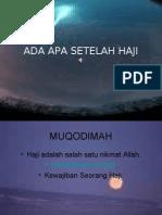 Ada Apa Setelah Haji