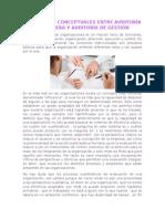 Diferencias Conceptuales Entre Auditoría Financiera y Auditoría de Gestión