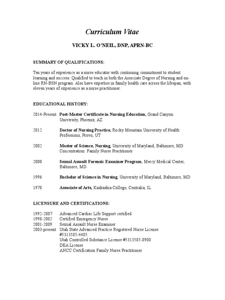 Dsu Cv Updated May 2015 For Weebly Nurse Practitioner Nursing