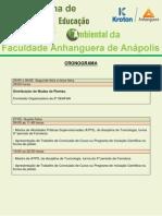 2ª Semana de Educação Ambiental Da Faculdade Anhanguera de Anápolis_ Cronograma