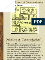 A Brief History of Communication