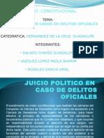 Juicio Politico en Caso de Delitos Oficial