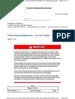 Pruebas y Ajustes Piston Pump (Implement)