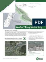WesPac Tilbury Marine Jetty Project Brochure 2014-09-02
