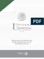 SEDESOL Primer Informe Trimestral 2015
