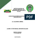 Cuestionario de Derecho Agrario