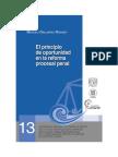 El Principo de Oportunidad en La Reforma Procesal