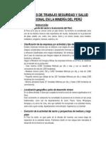 Condiciones de Trabajo Seguridad y Salud Ocupacional en La Minería Del Perú