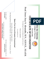 Resource Speakers' Certificate nsg