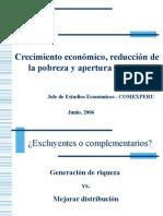 Crecimiento económico, reducción de la pobreza y apertura comercial