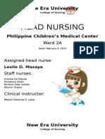 Head Nursing PCM