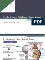 Embriologi Sistem Respirasi