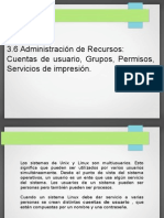 3.6 Usuarios y grupos , gestión de permisos e instalación de derechos en ubuntu