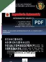 Exposicion Soucion de Ecuaciones Adimensionales de La Conveccion y Semejanza