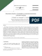 Dissolution Kinetics of Malachite in Ammoniaammonium Carbonate Leaching