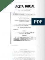 Ley de Telecomunicaciones No. 118 de 1966