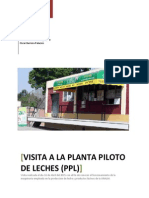 Informe Planta Piloto de Leche