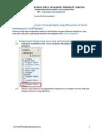 Panduan Perolehan Maklumat Penggunaan OLL untuk penyelaras subjek PPG peringkat jabatan