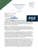 Congressman Jeff Miller's Letter to VA Secretary 5-20-15
