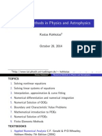 Numerical Methods in Physics and Astrophysics