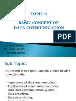 Topic 1 Basic Concept of Data Communication