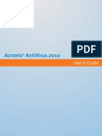 Acronis AntiVirus 2010 User Guide