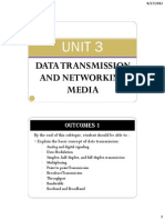 Unit 3 - Data Transmission and Networking Media
