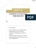 Unit 4 - Internet Connection Through Isp