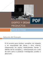 Diseño y Desarrollo de Productos (Selección Del Concepto)