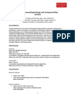 EC551-Fall-2011 Advanced Digital Design With Verilog & FPGAs