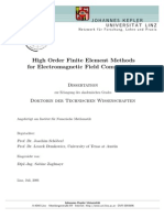 High Order Finite Element Methods for Electromagnetic Field Computation