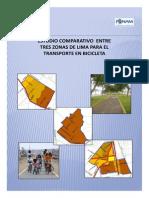 Estudio Comparativo de Tres Zonas Para El Transporte en Bicicleta