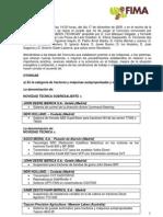 Acta Novedades Técnicas Fima10