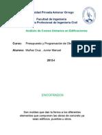 Análisis de Costos Unitarios en Edificaciones (1)