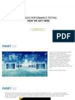 Rigorous Performance Testing - How We Got Here | Instart Logic