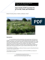 2009 Teff Accessions Forage Final
