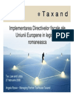 TaxHouse-Taxand - Implementarea Directivelor
