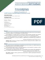 Metdologia de Desarrollo de Un Procedimieto Para La Resolucion de Conflictos y Acoso Laboral
