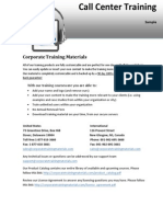 Call Center Training Pdf