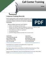Call Center Training Pdf