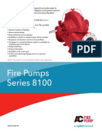 Especificaciones de 8100 Series Fire Pump