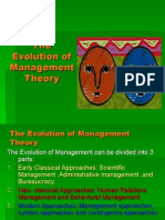 The Evolution of Management Theory Chapter 2