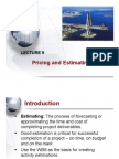 Lecture 9 - Estimating Project Times and Costs