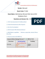 Braindump2go New Updated 70-462 Exam Questions Free Download (1-10)