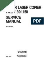 Canon CLC 1120, 1130, 1150 Service Manual
