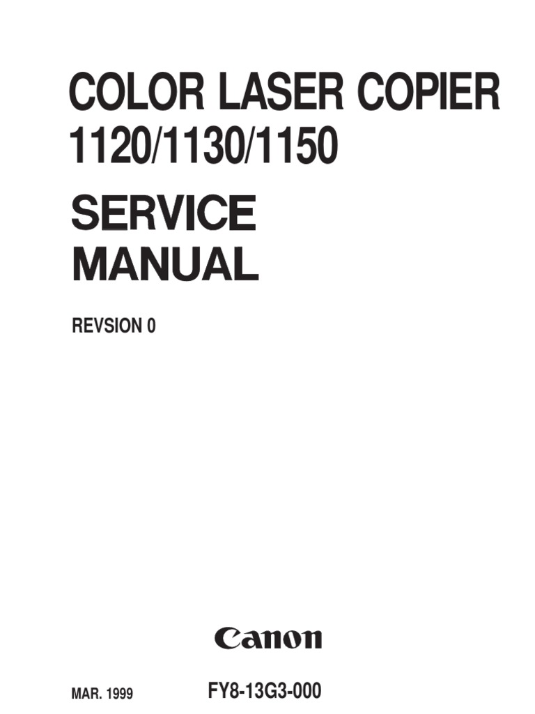 canon clc 1120 1130 1150 service manual photocopier image scanner